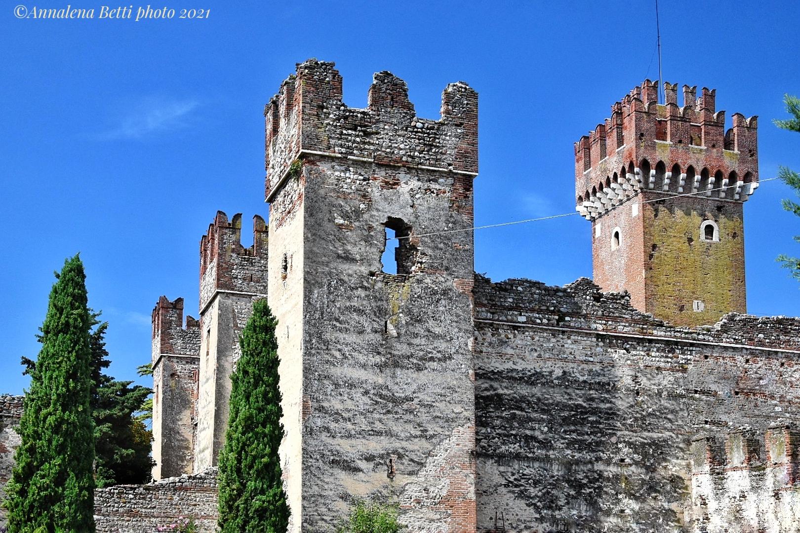 Scaliger Castle of Lazise in Veneto...