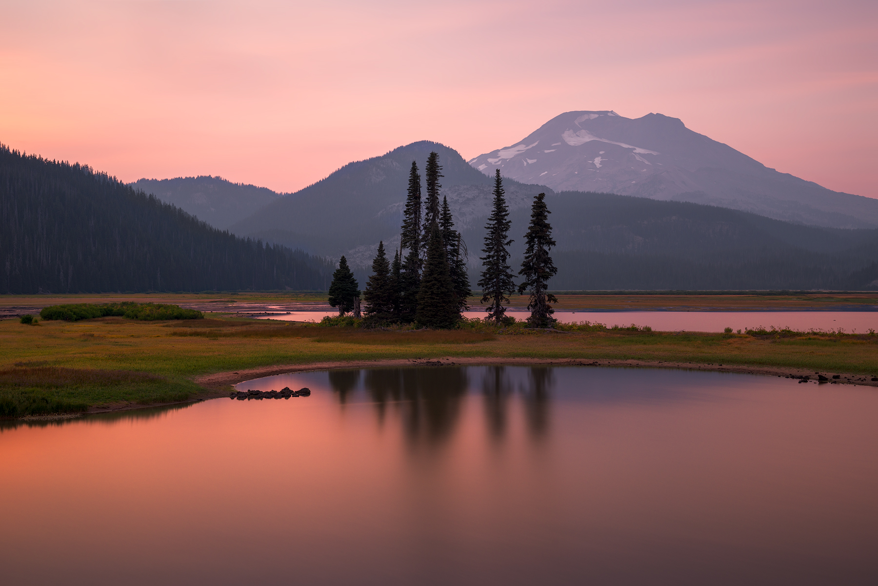 Sparks Lake, sunset...
