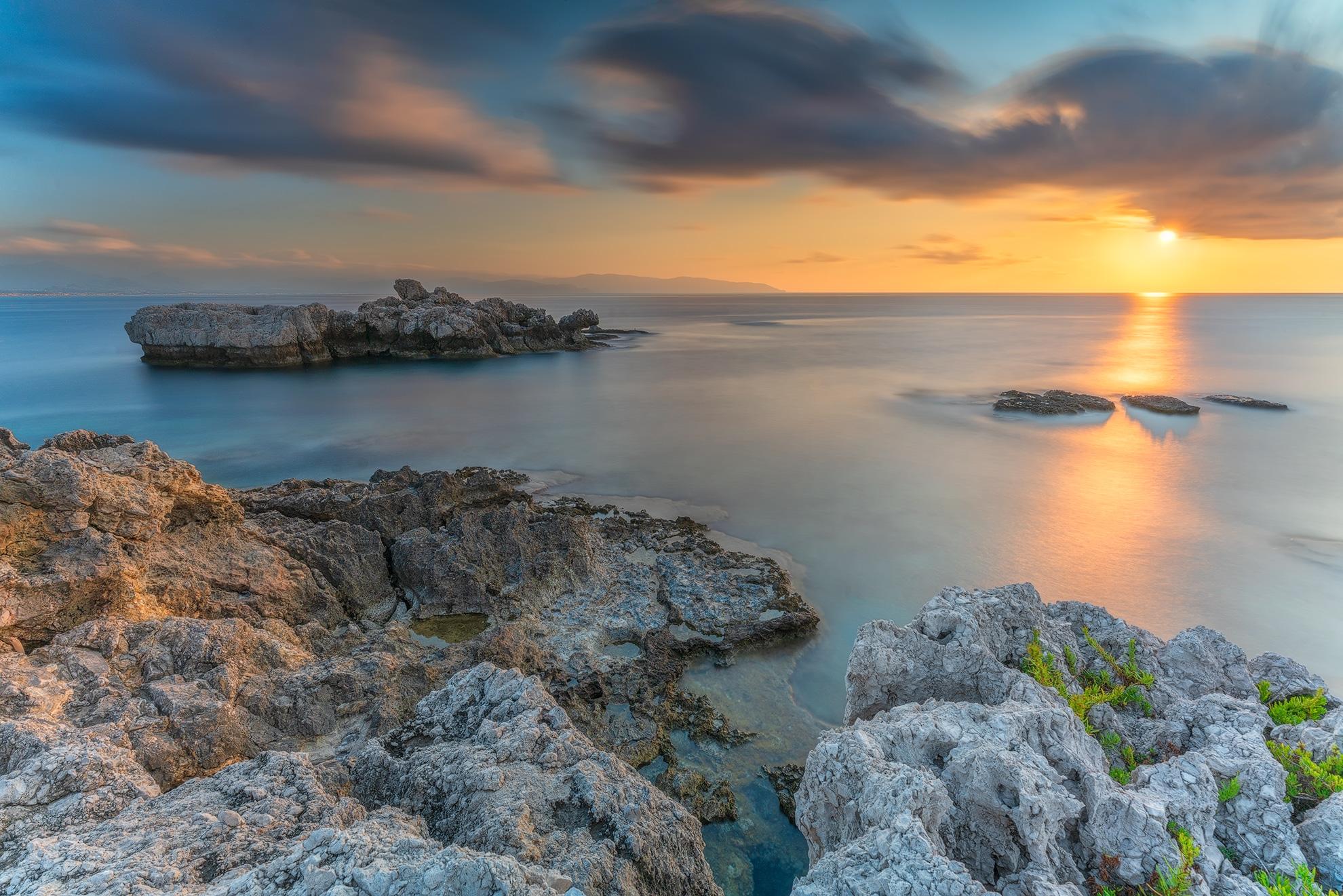 Capo Milazzo at sunset ...