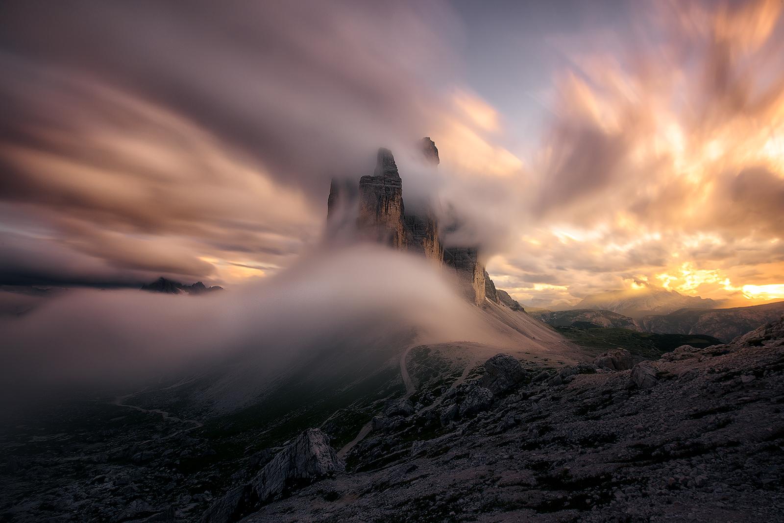 three stormy peaks...